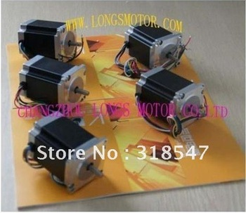 5PCS NEMA23 STEPPER MOTOR SINGLE SHAFT 23HS8610 287OZ-IN.78mm 1.0A 6lead wires CNC Mill Cutting LONGS MOTOR