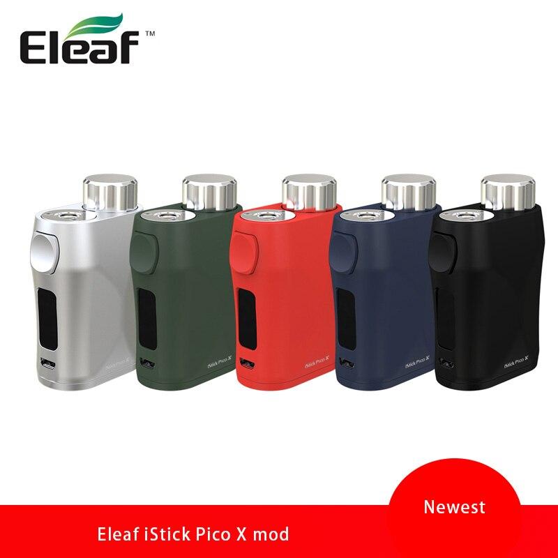 100% Original E Cigarette Eleaf iStick Pico X 75 W TC boîte MOD avec 0.69 pouces écran et puissance recommandant le système pas de batterie Vape