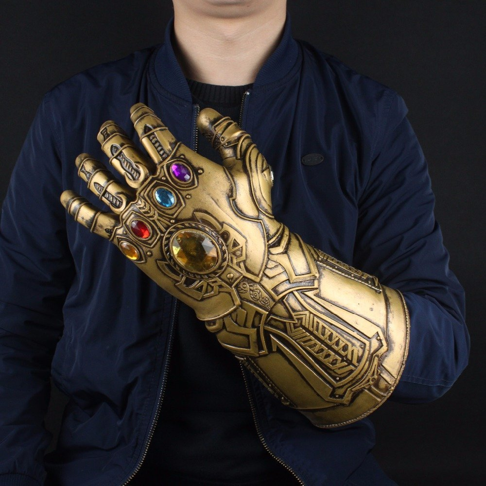 Free Shipping Thanos Infinity Gauntlet Avengers Infinity War Gloves Movie Anime Action Figure PVC toys Collection For Kids #DS