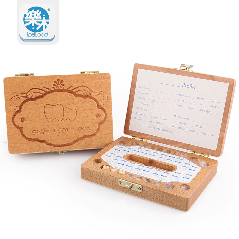 Tooth Box organizer Woodedn storage gifts box 3-6YEARS for baby save Milk teeth Box for Kids Montessori Education Toy