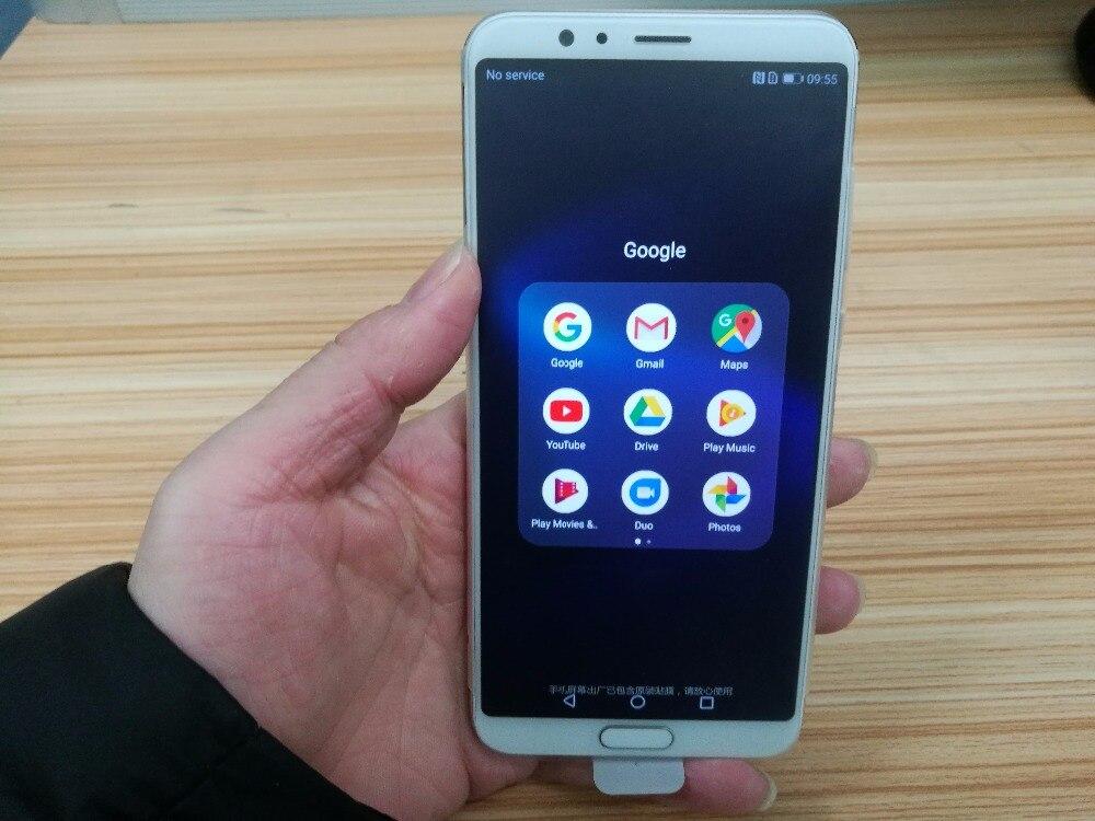 """Оригинальный HuaWei Honor V10 4 г LTE мобильный телефон Kirin 970 Android 8,0 5,99 """"FHD 2160*1080 4 ГБ Оперативная память 64 ГБ Встроенная память отпечатков пальцев NFC"""