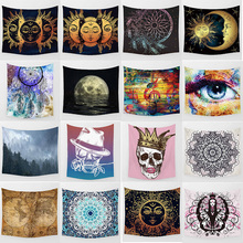 sea beach landscape high definition printing large mandala tapestry Wall Hanging Printed home decoration