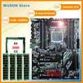 Nieuwe!! runing Super ATX X79 LGA2011 moederbord 8 DDR3 DIMM slots max 8*16G geheugen Xeon E5 2680 C2 CPU 32G (4*8G) 1600MHz DDR3 RECC