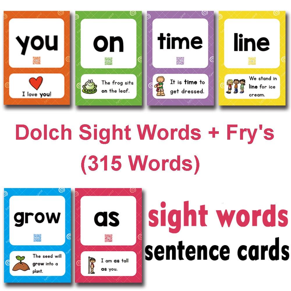 321 pièces/ensemble mots de vue jouets d'apprentissage mots anglais carte cartes Flash enfants jeux de mémoire jouets éducatifs pour enfants cadeaux de bébé