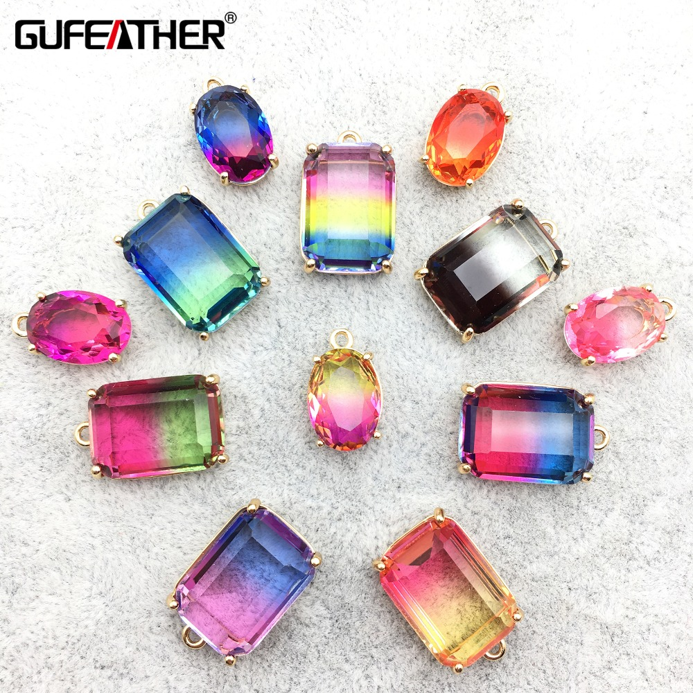 GUFEATHER M238,jewelry Accessories,glass Pendant,diy Pendant,jewelry Findings,diy Earrings,hand Made,jewelry Making,10pcs/pack