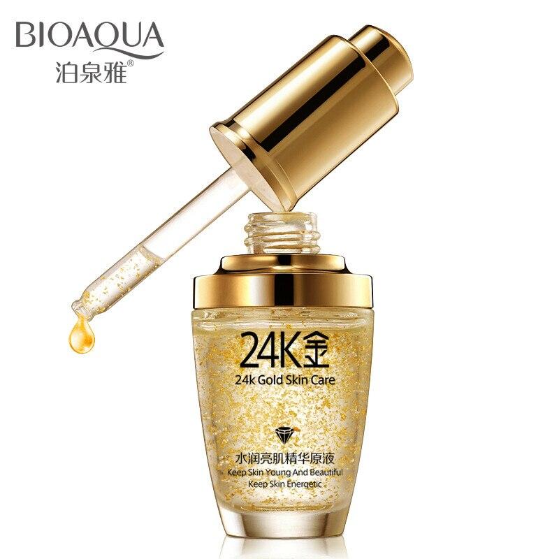 Золотая сыворотка BIOAQUA 24 K, увлажняющая эссенция, крем для лица, отбеливающий дневной крем, против старения, против морщин, укрепляющий уход з...