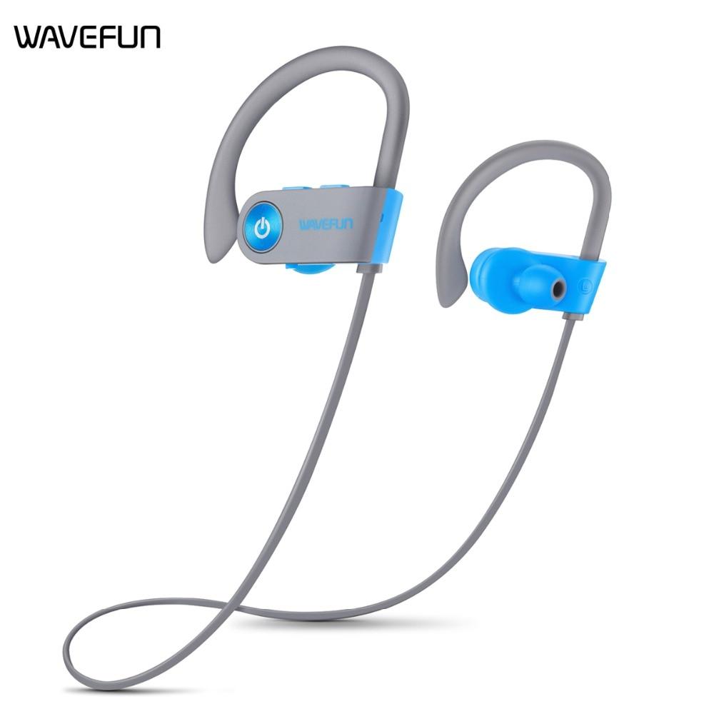 Wavefun x bourgeons Stéréo Sans Fil Casque CSR8635 Crochet D'oreille IPX7 Étanche Hifi Sport Bluetooth 4.1 Écouteur avec Micro Casque