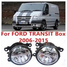 Para FORD TRANSIT Furgón 2006-2015 10 W Luz de Niebla del LED DRL Daytime Running Lights Coche Que Labra lámparas