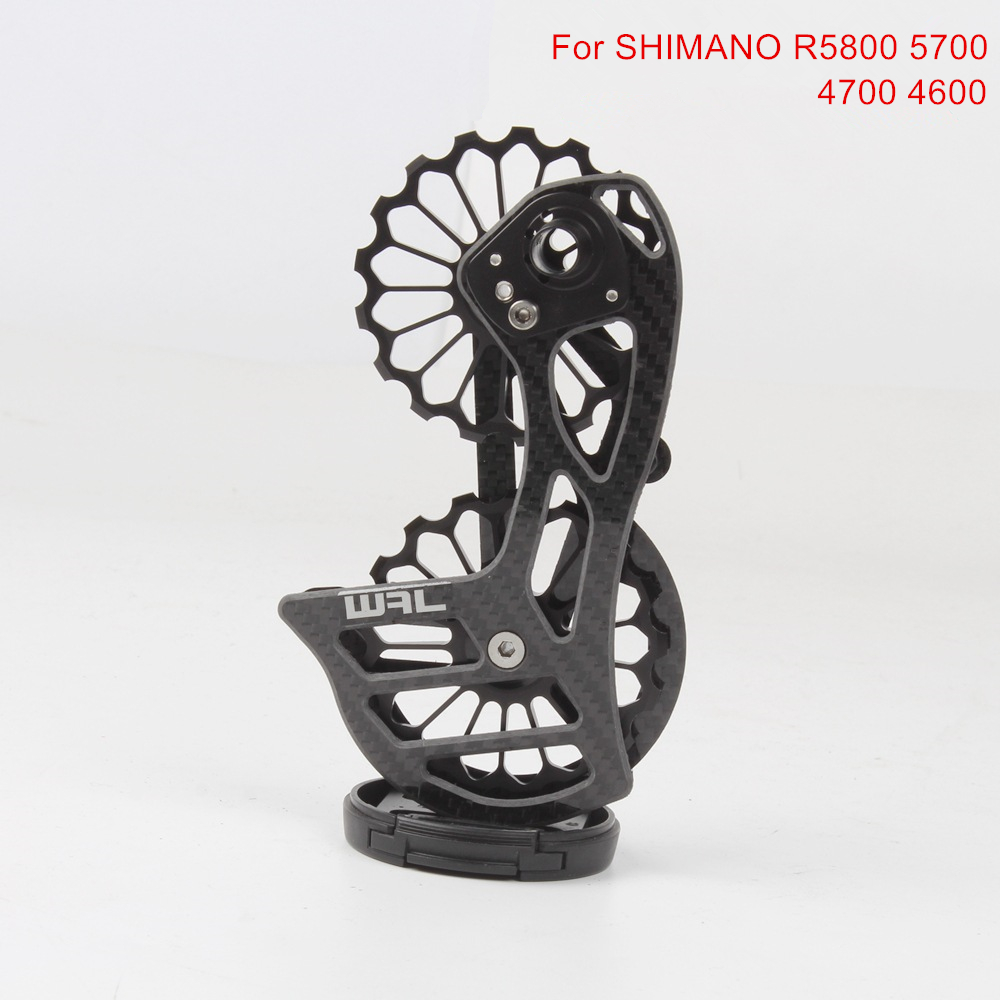 17T Carbon Fiber Ceramic Bicycle Bearing Rear Derailleur Jockey Pulley Wheel Set Guide Wheel For Shimano