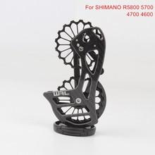 цены 17T Carbon Fiber Ceramic Bicycle Bearing Rear Derailleur Jockey Pulley Wheel Set Guide Wheel For Shimano R5800 5700 4700 4600