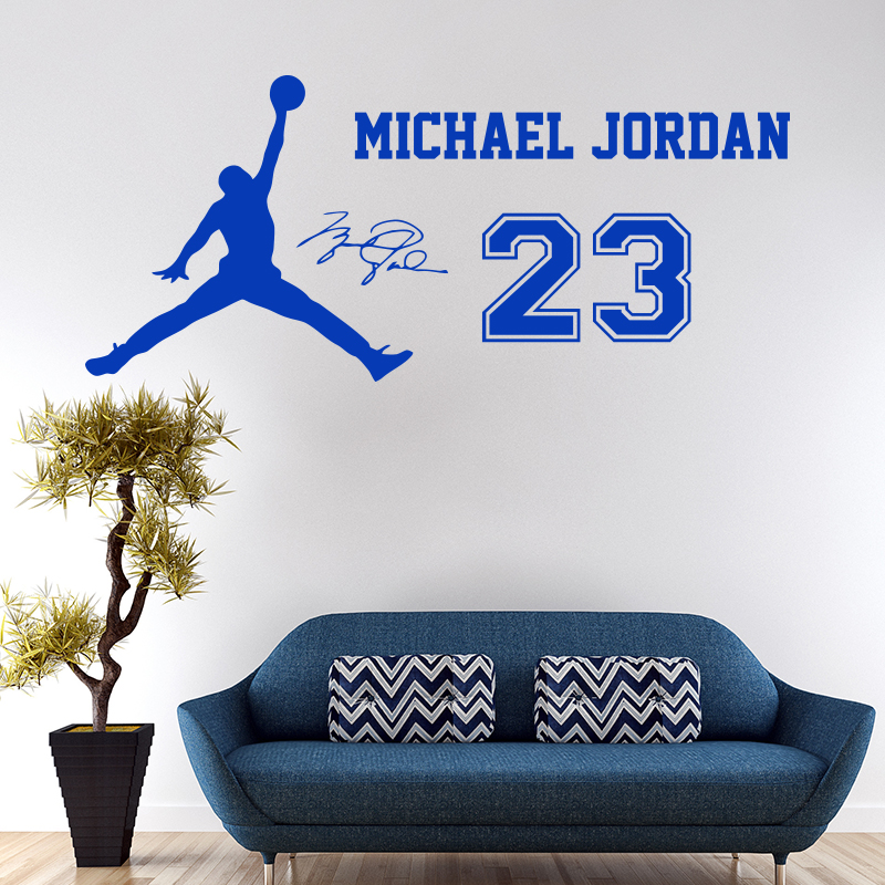 2016 New Design Michael Jordan Wall Sticker Vinyl DIY Home Decor Basketball  Star Decals Sport For Kids Room Free Shipping In Wall Stickers From Home ...