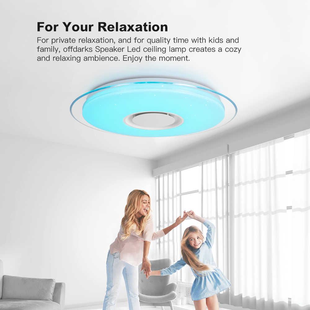 Современный светодиодный потолочный светильник с управлением через приложение, RGB затемняющий светильник для спальни, гостиной, кухни, детской комнаты, потолочный светильник, bluetooth-динамик