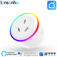 Lonsonho enchufe inteligente Wifi enchufe inteligente Australia Nueva Zelanda AU enchufe funciona con Alexa Google Home Mini IFTTT inteligente la vida(China)