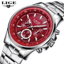 Relojes LIGE para hombre, reloj de cuarzo de lujo, reloj deportivo resistente al agua para hombre, reloj militar informal de moda, reloj Masculino