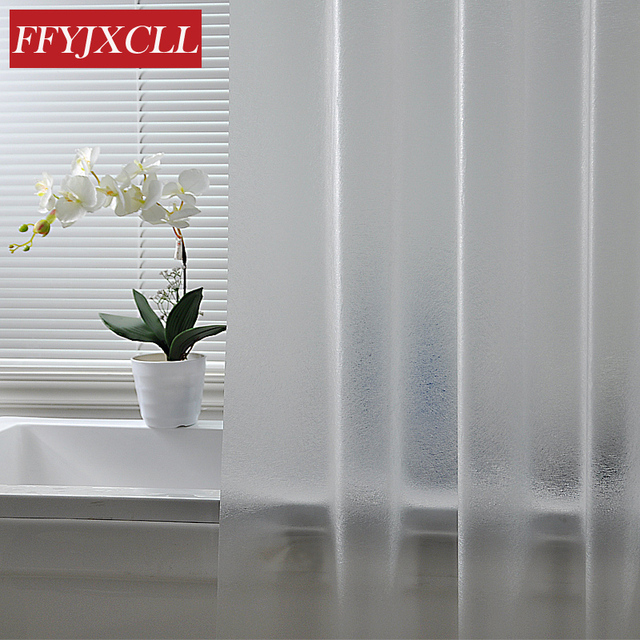 Bath Shower Curtain Grind Arenaceous Translucent Solid Color Europe Mildew Proof Waterproof Peva Fabric Multiple Sizes