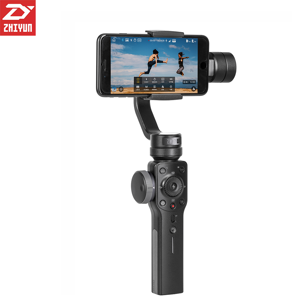 Pre Sale ZHIYUN Zhi Yun Smooth 4 Smartphone Handheld Stabilizer Tripod 3 Axis Portable For IPhone
