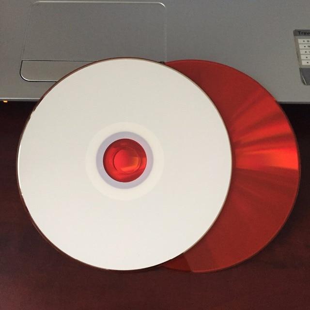 25 discs bán buôn 700 MB Trống Xe Có Thể In Đỏ CD-R Đĩa