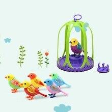 Électrique Oiseau Perroquet Parlant Digi Oiseaux Intelligents Animaux Son Sifflet Induction Concert Oiseau avec Cage Enfants Jouets Pour Enfants