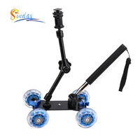 3in1 Camera Rail Car Table Dolly Car + +11 inch Magic Arm + Phone Handheld Monopod Selfie Stick For d1000 d3000 d3100 d3200