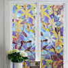 Colored PVC Frosted Glass Film Windows Shower Room Stained Glass Film Electrostatic Glue Free Bathroom Glass