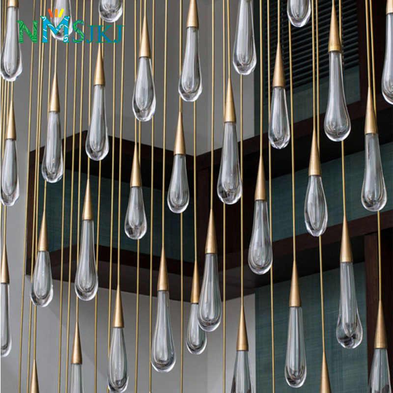 Золотой каплевидный кристалл подвесной светильник креативный Европейский стиль роскошный Светодиодный светильник DIY Подвесная лампа модный домашний легий бар лампа