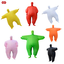 Masked Clowns orange chub air doll aerated costume clothing PVC inflatable material mascot cosplay party ceremony clothes