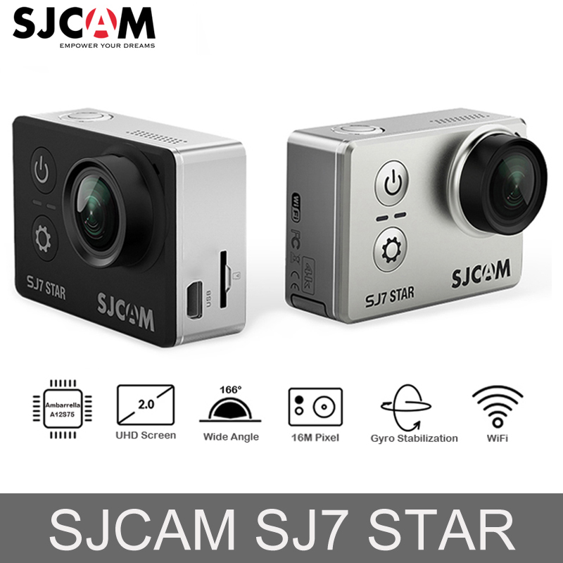 100% Оригинальные SJCAM SJ7 STAR экшен камера Wi-Fi 4 К 2 ''Сенсорный экран Ambarella A12S75 30 м подводный Водонепроницаемый Спорт экшин мини камера
