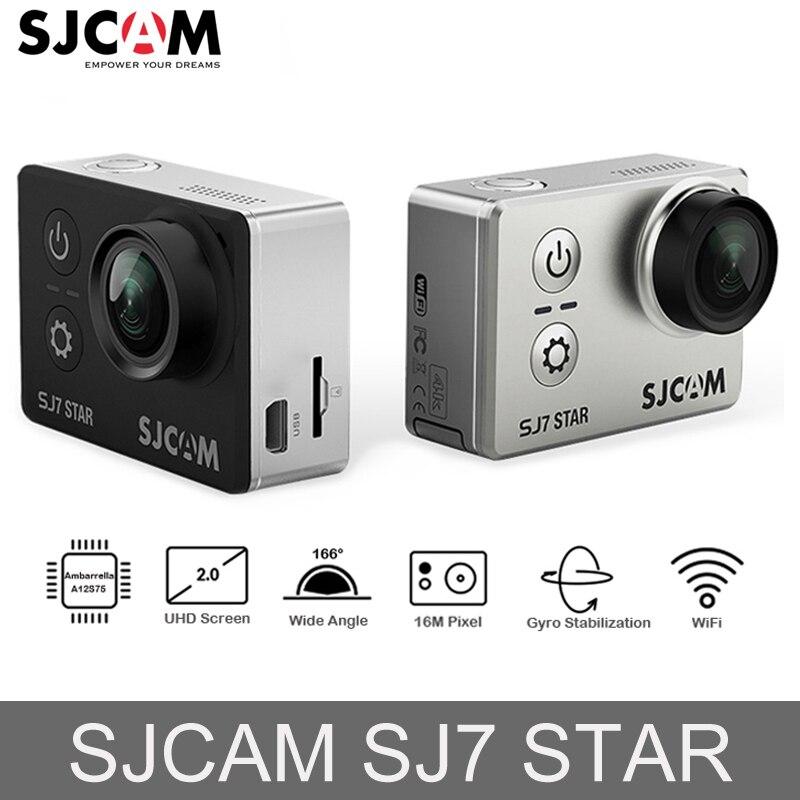 Original SJCAM SJ7 ESTRELA 4 k WiFi Ultra HD DVR Carro Ambarella Câmera de Ação Câmera Subaquática À Prova D' Água Mini Vídeo Zangão câmera