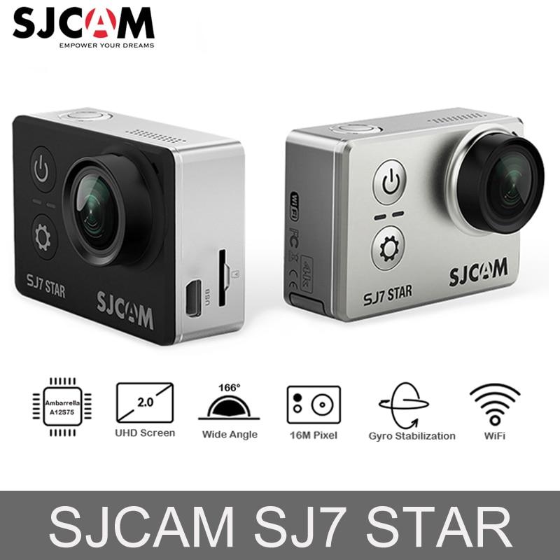 Original SJCAM SJ7 estrella Ambarella acción Cámara 4 K Ultra HD WiFi de la cámara del coche DVR submarino impermeable Mini Drone Video cámara