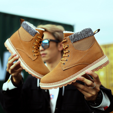 Warm Winter Boots Men 2019 High Quality Canvas Snow Casual Shoes Fur Comfortable Working Fashion Heel