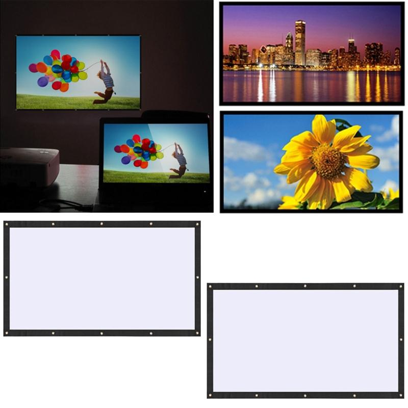 100 inch 16:9 Home Protable Projection Screen Soft Foldable Polyester For Film Theater Outdoor Movie Video screen for projector