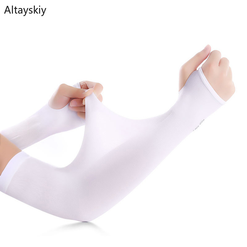 Arm Warmers Women Solid Summer Breathable Sunscreen Outdoor Unisex High Elasticity Womens Sleeve Simple All-match Trendy Leisure