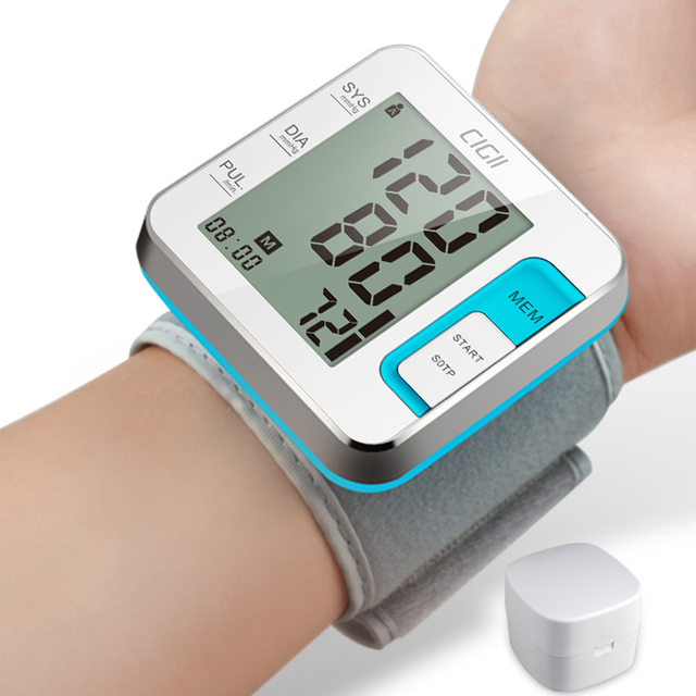 Cigii Tonometer Smart digital display bracelet Heart rate monitor 1 PCS Health care Wrist blood pressure Monitor 4