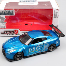 1:32 Scale brand Jada JDM Tuners 2009 NISSAN GTR GT-R R35 BEN SOPRA diecast Metal sport racing model toy miniature for kids boy