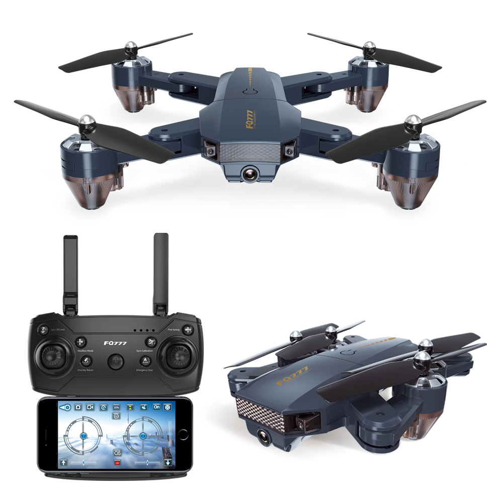 Unmanned aerial vehicle Folding four-axis  Aerial photography Mini Remote control Aircraft toys Image Wifi transmission