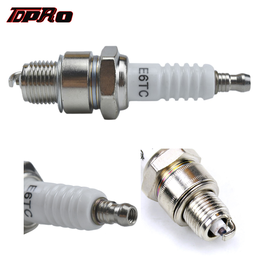TDPRO New Ignition Sparking Plugs 2 Stroke Engine Spark Plug For 49cc 60cc 66cc 80cc Motorized Bicycle Quad Pocket Dirt Pit Bike