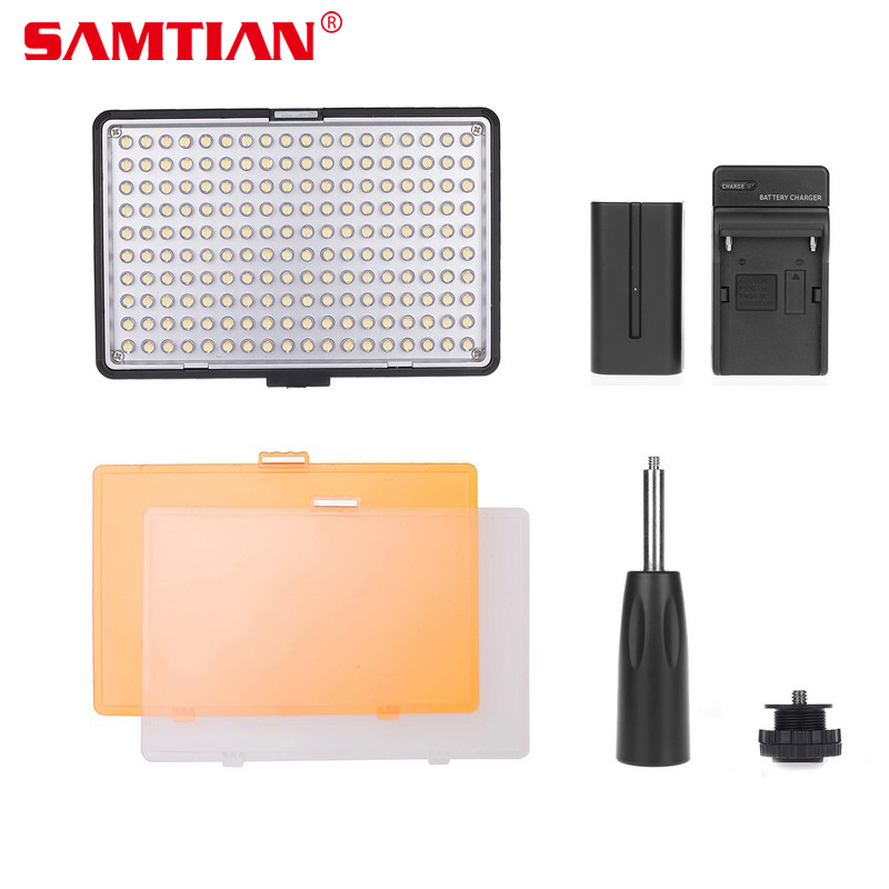 SAMTIAN Professional Adjustable 180PCS LED 13W 7.4V Video Light Camcorder Camera Hot Shoe Lamp For Video Photo