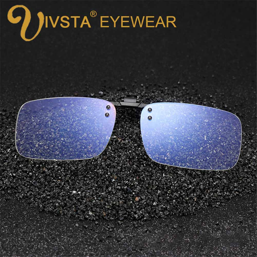 IVSTA Anti Blue Rays Computer Glasses Clips Men Flip Clip On Clear color for Computer Protection Gaming Glasses UV400 radiation