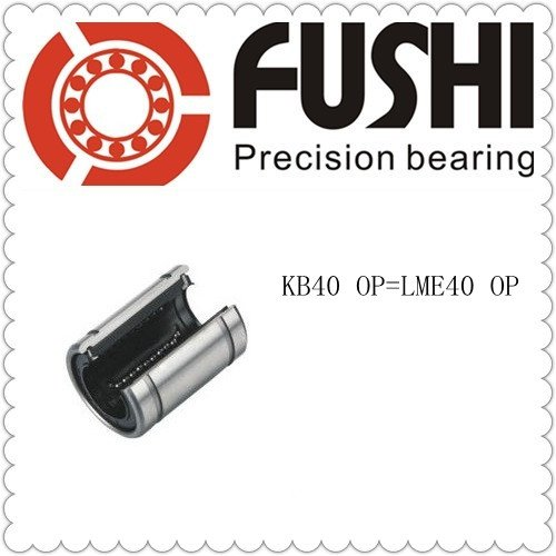 LME40 OP  Ball Bushing 40x62x80 KB40 OP Linear Motion Bearings CNC free shipping lm60uu 60mm linear bushing cnc linear bearings