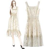 Женское платье в украинском стиле лето, новый чулок, водорастворимые сращивания, яркая Цветочная платье, европейские и американские продук