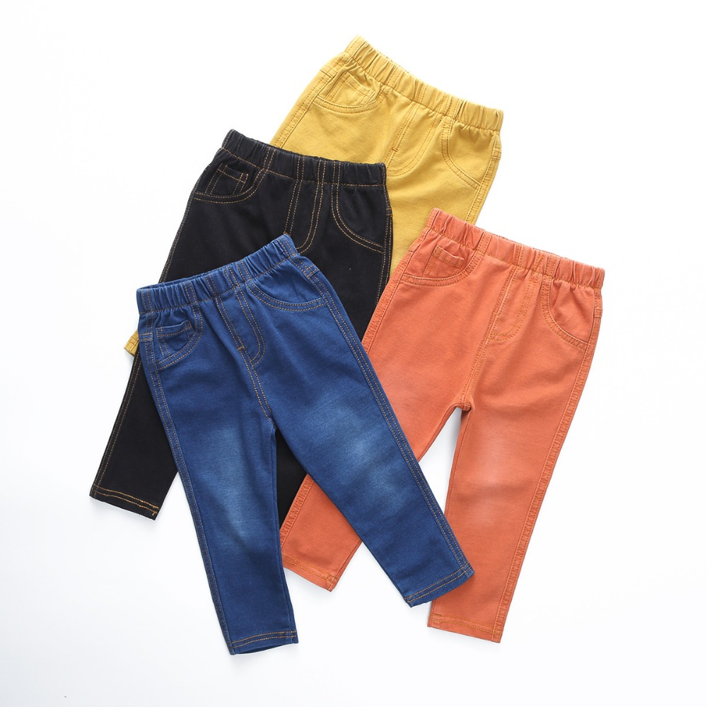 VIDMID 1-6Y Children Jeans Boys Denim trousers Baby Girls Jeans Top Quality Casual pants kids clothing spring leggings 1017 01 high quality brand clothing casual trousers drawstring denim green cargo pants regular fit pockets full jeans pants 28 38 a320