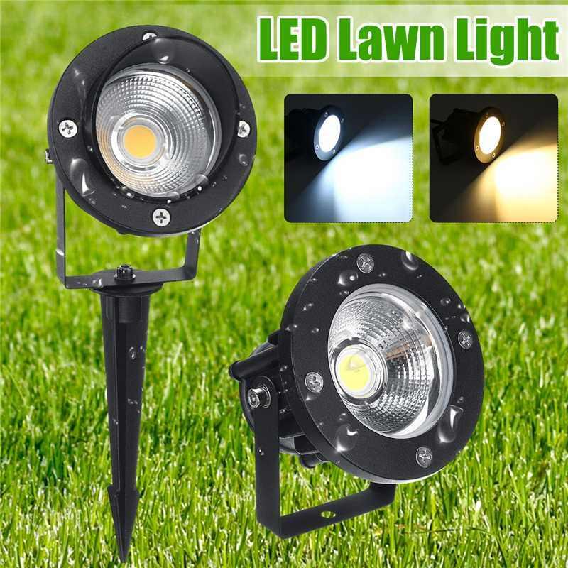 Mazorca jardín LED césped lámparas luz DC12-24V exterior LED pico luz 12 W patio paisaje lámparas impermeables IP65 focos