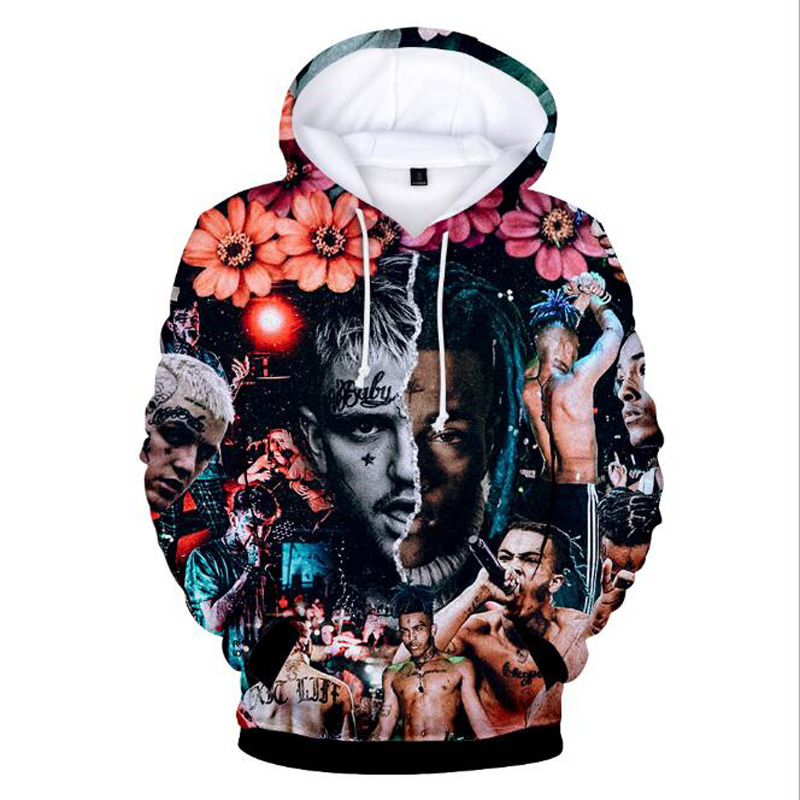 6b4b3a665 XXXtentacion and lil peep 3D Print Oversized Hoodie For Men Women Harajuku  Sweatshirts Hip Hop Streetwear Fashion Funny Clothing