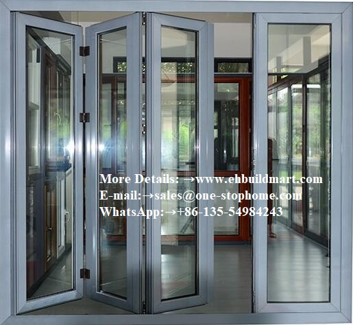 Aluminum Profile Thermal Break Or Non Thermal Break Interior Folding Door And Window