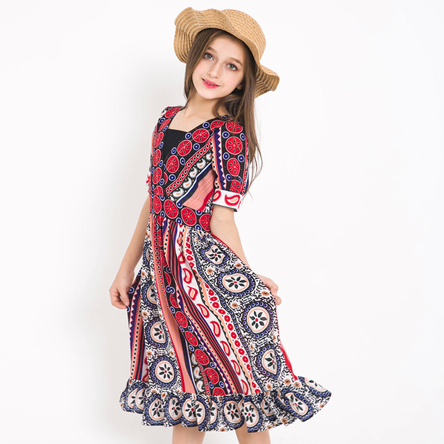 bohemian style beach dress girls summer cool cothing