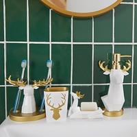Bathroom European Creative Housewarming Wedding Gifts Bathroom Accessories Dental Toilet Wash Set LO881102