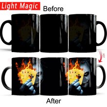 Batman joker mug cold hot heat changing color magic tea cups best gift for yourself