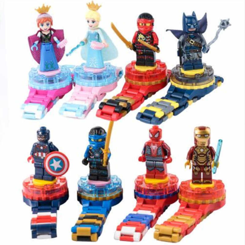Super Hero Watch Building blocks Marveling Avengers Figures Bricks Toys Compatible with Legoings  Minecrafted Block Watch