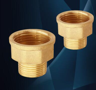 5pcs 1/2 Male -1/2 Female Brass Pipe Adapter Coupler Connector