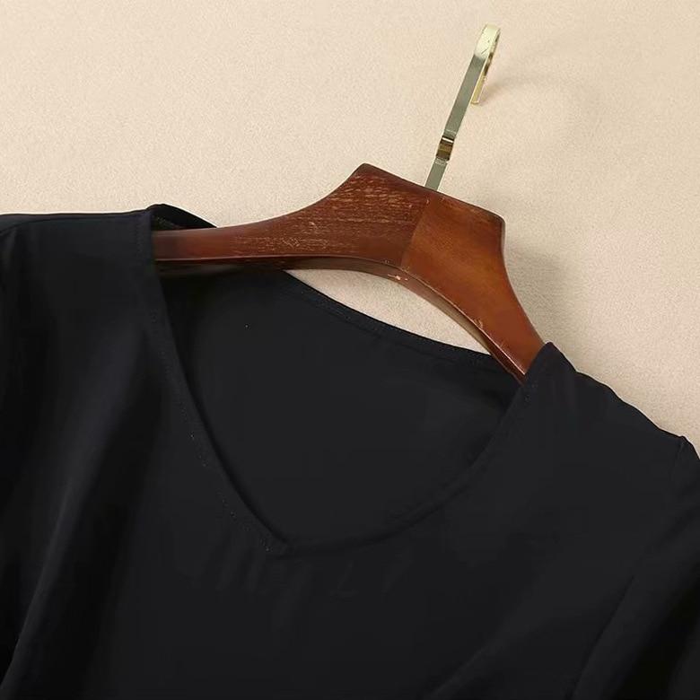Ruches Élégant Longues 2 Imprimer Femmes Set 2019 Manches Dot Noir Tops Jupes Nouveau Pièce See Chart Printemps Color Blouse Jupe Polka Block 7wBSxB4n
